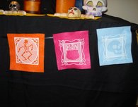 Embroidered Papel Picado for Day of the Dead