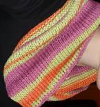 Infinity Scarf with Lavender and Orange