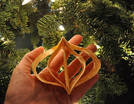 Paper-Strip Christmas Ornaments