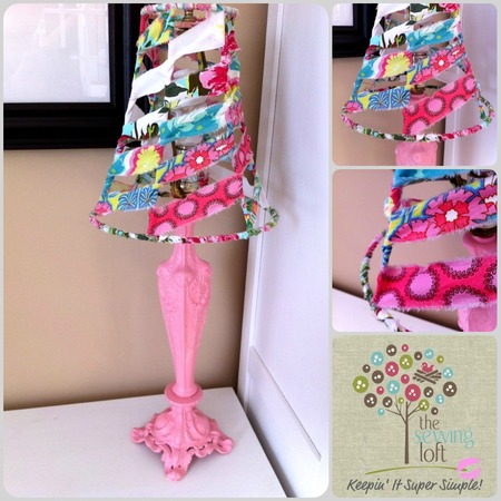 Lamp Makeover with Spray Paint and Fabric Strips