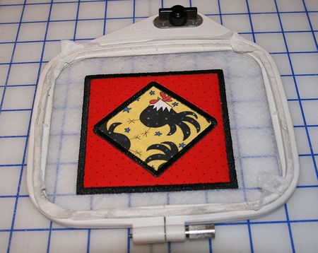 Machine Embroidery Tutorial for Square In-the-Hoop Coasters
