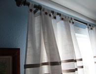 Tab Top Linen Curtains Tutorial