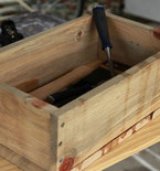 Rustic Wooden Storage Boxes for Food or Tools