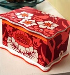 Wood Keepsake Box Embellished with Fabric and Paint
