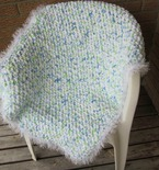 Crocheted Baby Blanket ('Marshmallow')