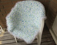 Crocheted Baby Blanket ('Marshmallow')