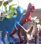 Planter Made with Dinosaur Toy
