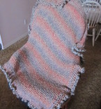 Soft Stripes Throw (Knitted and Crocheted Blanket)