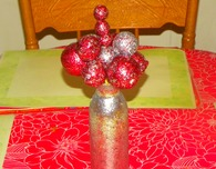 Glitter Vase & Styrofoam Glitter Ball Tutorial