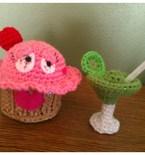 Amigurumi Cupcake and Margarita