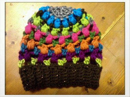 Rainbow Crochet Slouch Hat