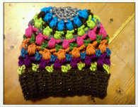 Rainbow Crochet Slouch Hat