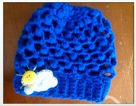 Sunny Skies Sparkly Crocheted Baby Slouch Hat