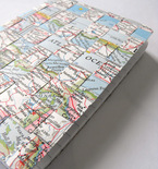 Upcycled Woven Map Journal