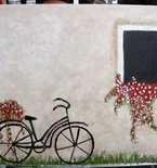 Tuscan Bike Painting