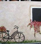 Tuscan Bike Painting