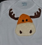 Moose Applique Onesie - Mom & Me Knits
