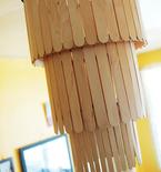 Popsicle Stick Chandelier