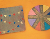 Painted Cork Coasters