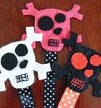 Spooky Skull Bookmarks