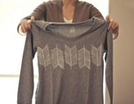 DIY Arrow Tail Stamped T-Shirt
