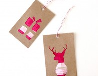 DIY Fringed Gift Tags