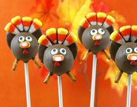Thanksgiving Turkey Cake Pops