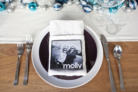 DIY Instagram Coasters as Placecards