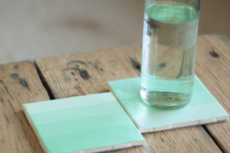 DIY Ombre Tissue Paper Coasters