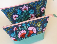 Open-Wide Zippered Pouches