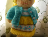 Polly & Kate Knitted Dolls