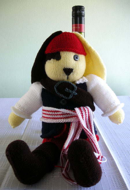 Pirate Bunny Knitted Doll