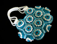 Crocheted Lily Hexagon Bag