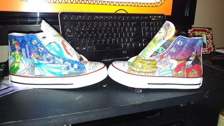 Painted Canvas Shoes