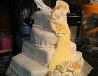 Homemade Fondant Wedding Cake