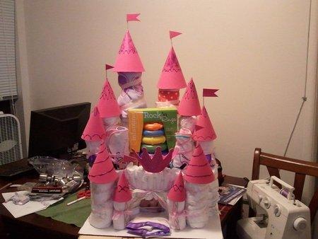 Diaper Castle (Baby Shower Gift)