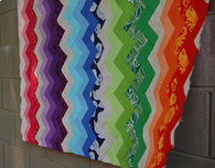 Rainbow Value Chevron Quilt