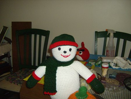 Crochet Snowman Doll