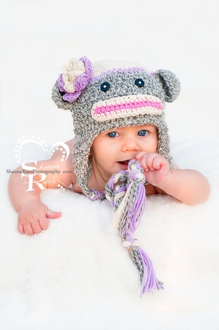 Sock Monkey Crochet Hat