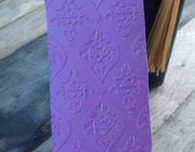 Embossed Bookmark with Paper Tassel