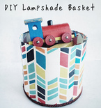 DIY Lampshade Basket