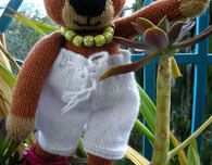 Secret Agent Bubu the Bear Knitting Pattern