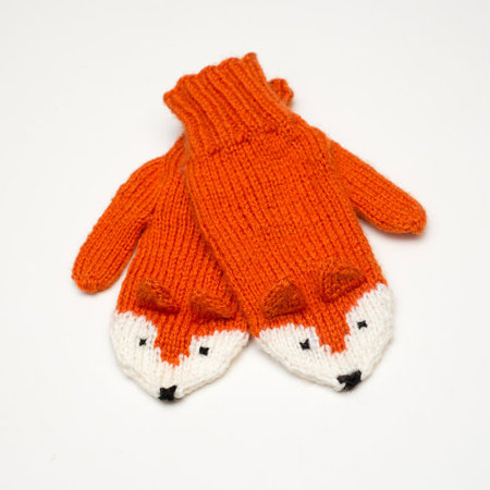 Hand-Knit Fox Mittens - Craftfoxes