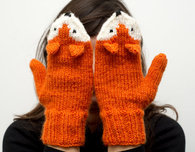 Knitting Pattern For Fox Mittens : Hand-Knit Fox Mittens - Craftfoxes