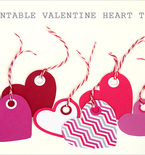 Printable Valentine Heart Tags