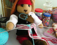 The Yarn Loving Pirate Knit Doll