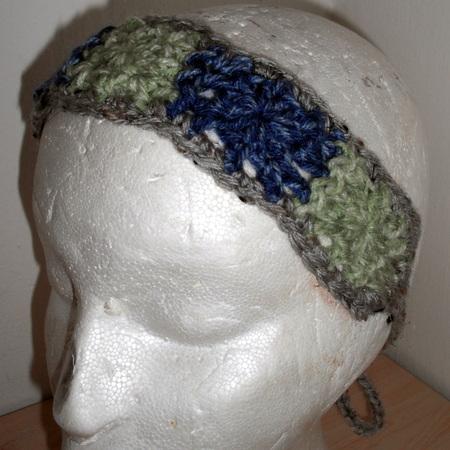 Squares Crochet Headband