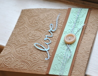 "Embossed ""Love"" Handmade Card"