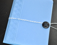 Embossed Mini Journal and Wedding Card