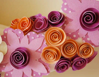Spring Wreath with Spiral Paper Flowers
